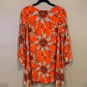 Orange Crown & Ivy tunic with fun giraffe print
